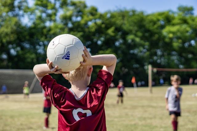 Summer Soccer Fun Kids Child Throw-in Sport